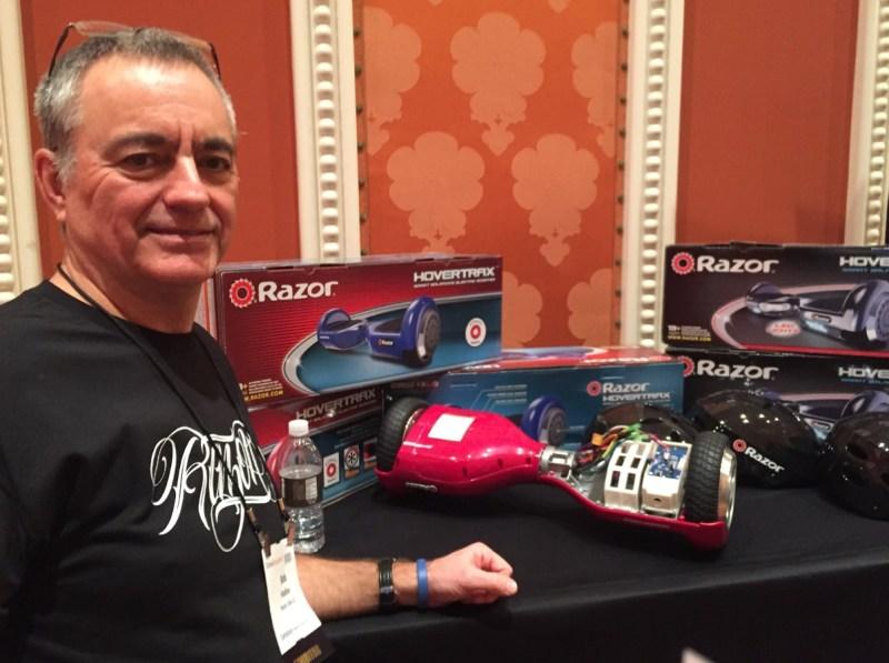 Bob Hadley of Razor at CES 2016.