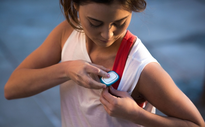 Revolar's panic button can be worn on or under your clothing.