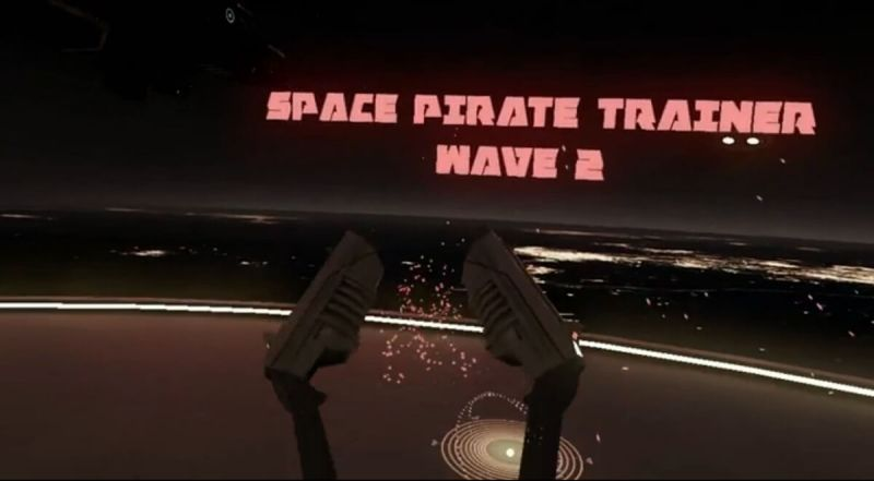 Space Pirate Trainer is like an unending wave attack simulator.