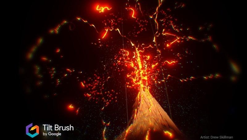 Google's Tilt Brush VR app lets artists paint in 3D.