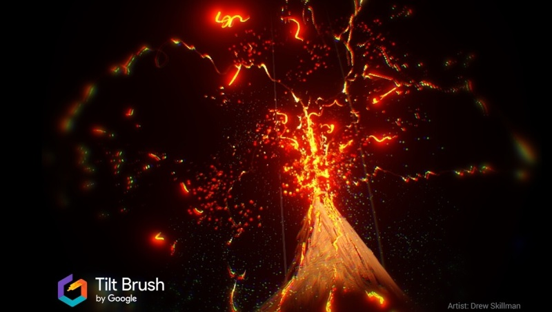 Google's Tilt Brush VR app lets artists paint in 3D.
