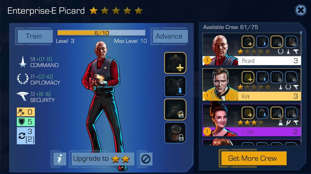Picard looking like a badass.