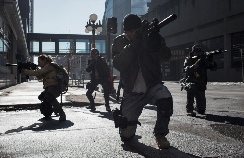 A squad of agents in the live-action film of The Division.