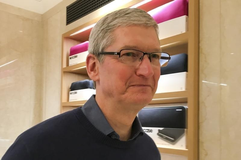 Apple Chief Executive Officer Tim Cook speaks during a event for students to learn to write computer code at the Apple store in the Manhattan borough of New York December 9, 2015.