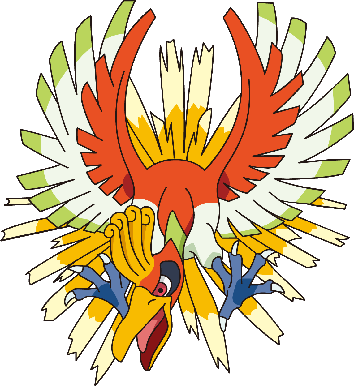 Ho-Oh appeared in the cartoon long before he was in a game.