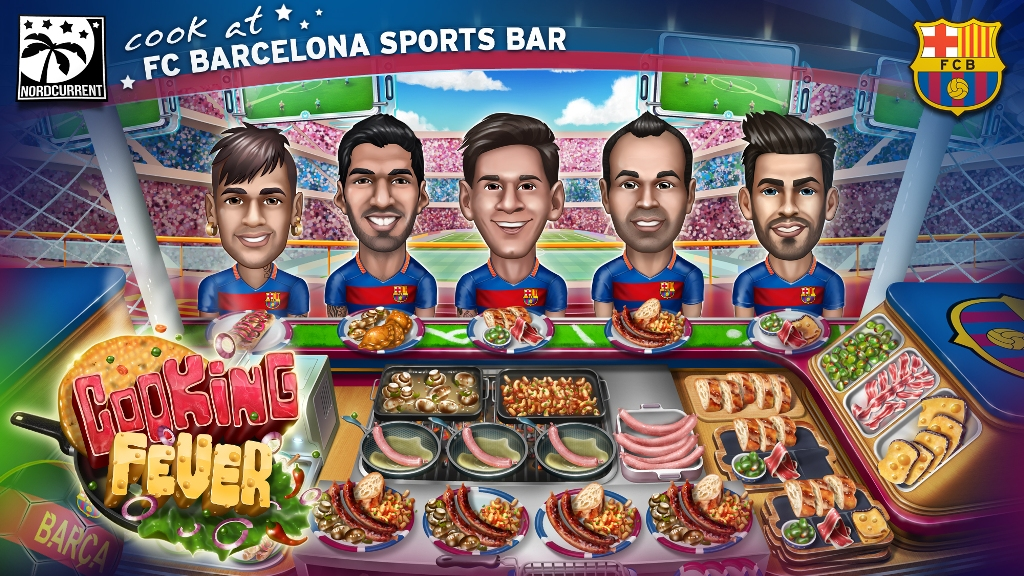 Cooking Fever will have some of Barcelona's biggest stars.
