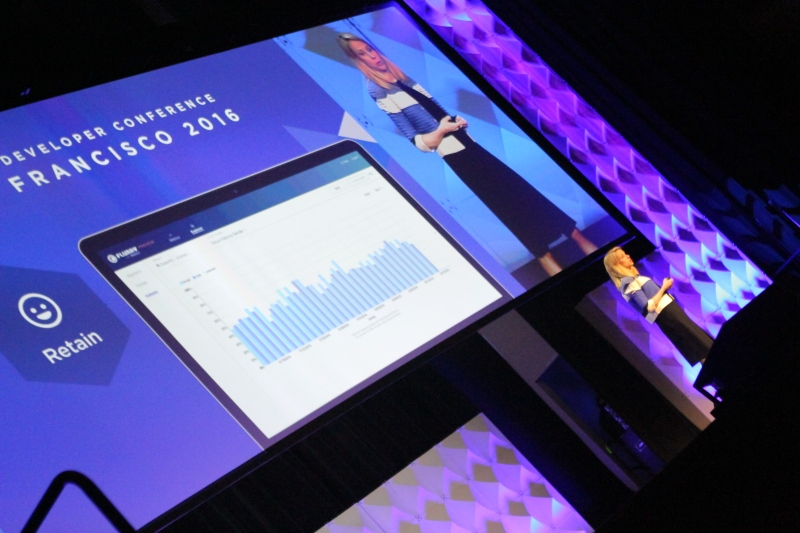 Yahoo chief executive Marissa Mayer gives the keynote address at the company's 2016 San Francisco mobile developer conference on February 18, 2016.