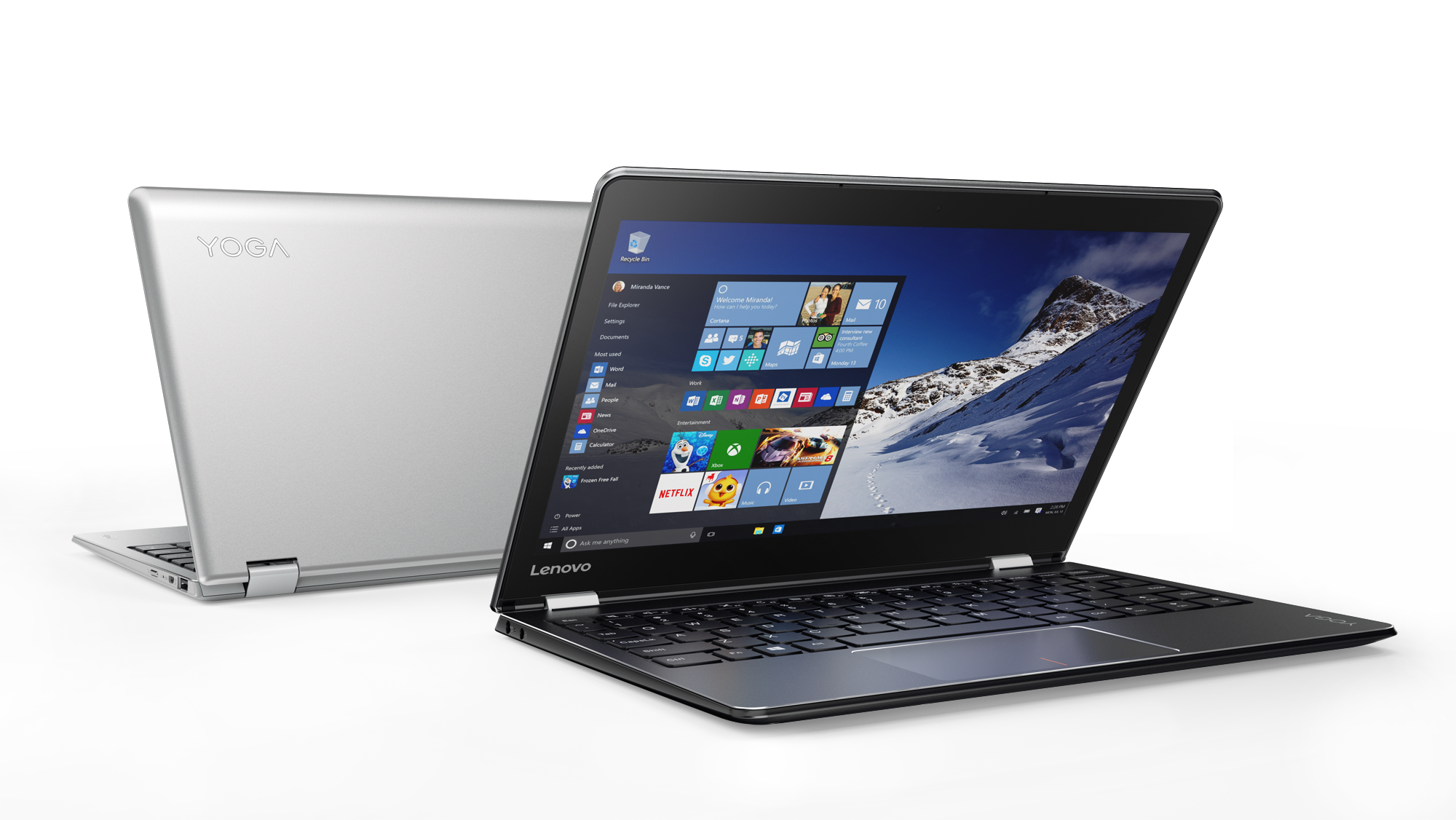 Lenovo announces new windows 10 laptops android tablets for Notebook tablet