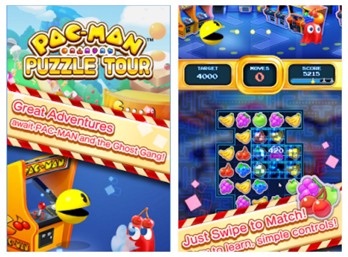 Pac-Man Puzzle Tour for iOS and Android.