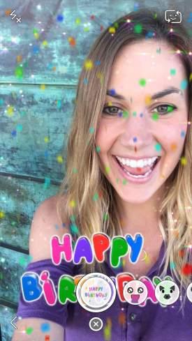 Snapchat Birthday Lens 1