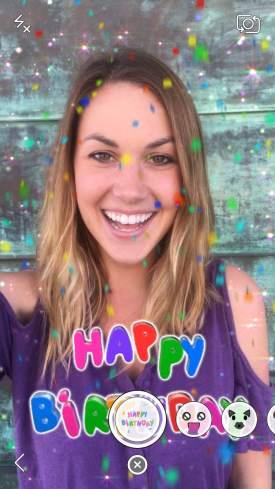 Snapchat Birthday Lens 2