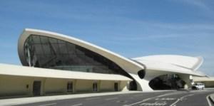 Designed by Eero Saarinen, the TWA Flight Center opened in 1962 at New York's John F. Kennedy International Airport.