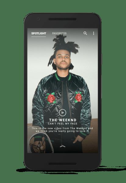 Vevo's new Android app.