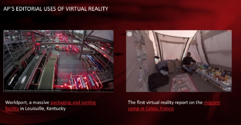 AP's experiments in VR.