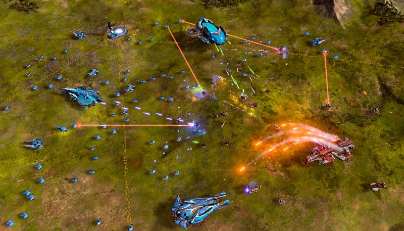 Ashes of the Singularity is a sci-fi real-time strategy game that lets you control an army.