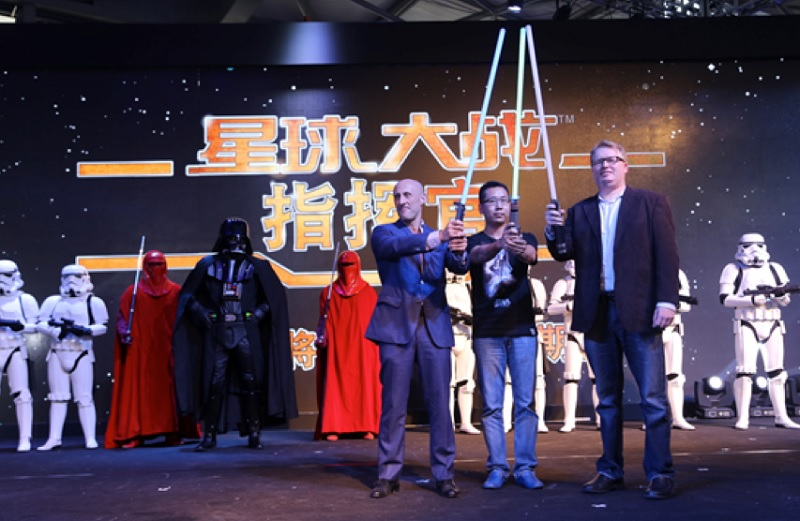 CMGE promotes Star Wars: Commander in China.