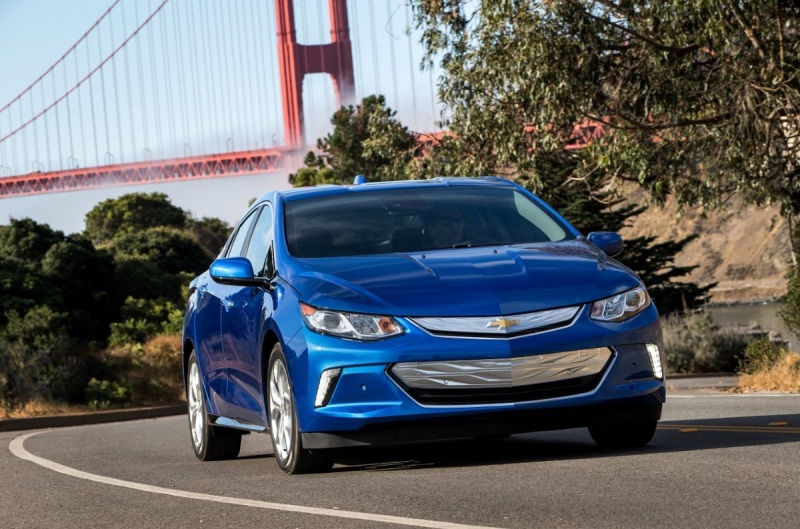 The 2016 Chevrolet Volt is a hybrid electric car.
