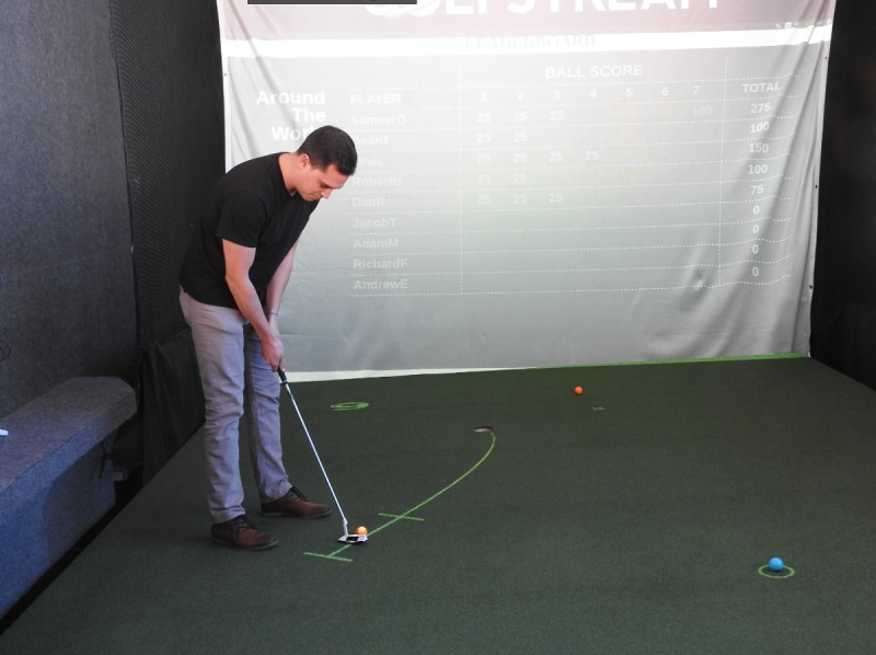 Golfstream uses projected light to show you which way to putt the golf ball.
