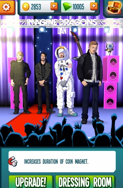 Stage Rush: Imagine Dragons is an endless runner game.