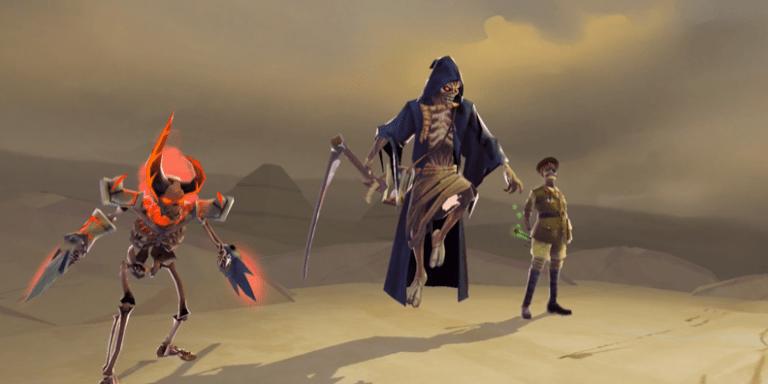 Reaper Eddie doesn't look happy.