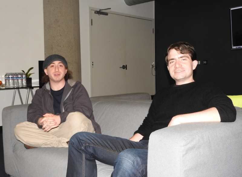 David Holz (left), CTO of Leap Motion, and Michael Buckwald CEO.