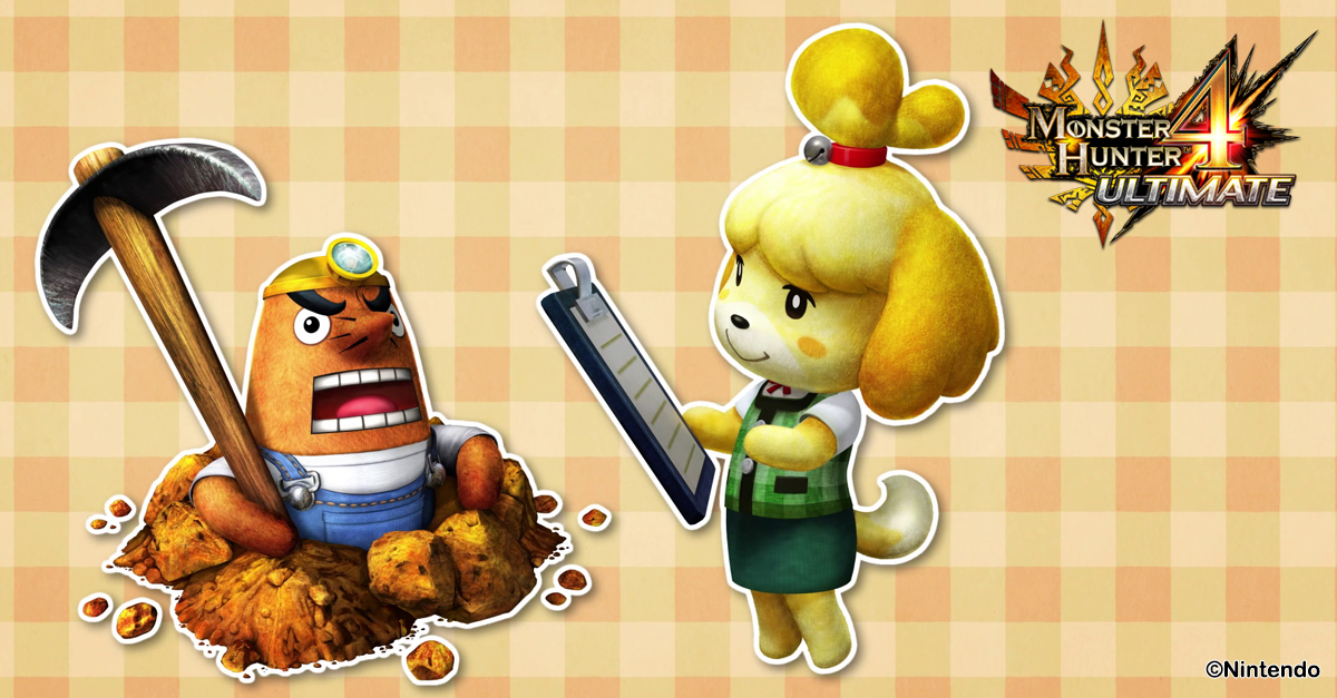 Free DLC -- like Mr. Resetti and Isabelle from Animal Crossing -- continued monthly from MH4U's release in February until November.