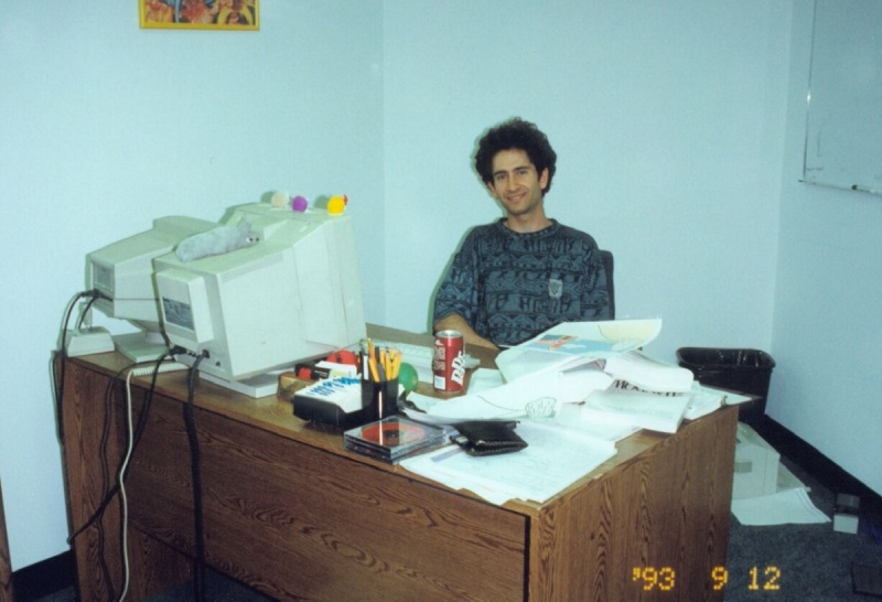 Mike Morhaime, cofounder of Blizzard (then Chaos Studios) in 1993.