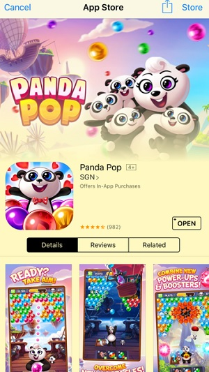 mNectar has playable ads that promote Panda Pop.