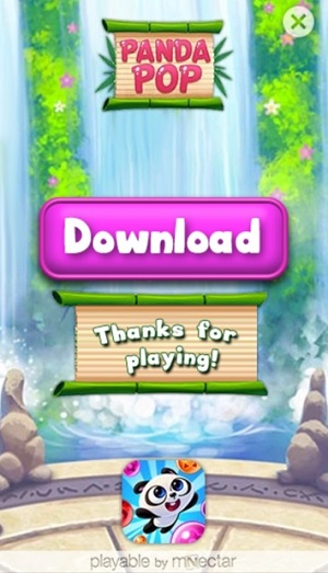 Here's what you see at the end of a playable ad from mNectar.