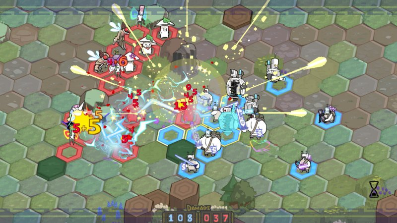 Pit People can have a frenzy of action with enough enemies on the map.
