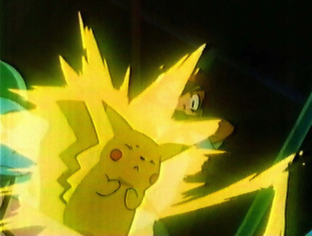 Pikachu's shocking abilities went a bit of control in one episode.