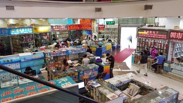 An electronics market in Shenzhen