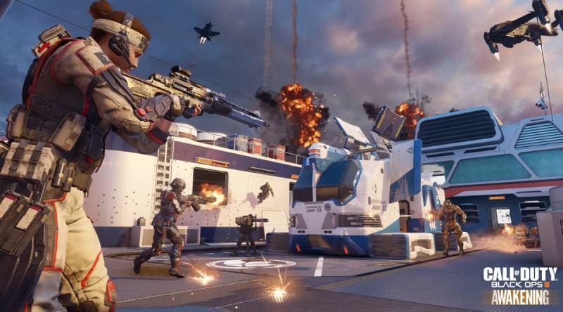 Skyjacked map in Awakening DLC for Call of Duty: Black Ops III