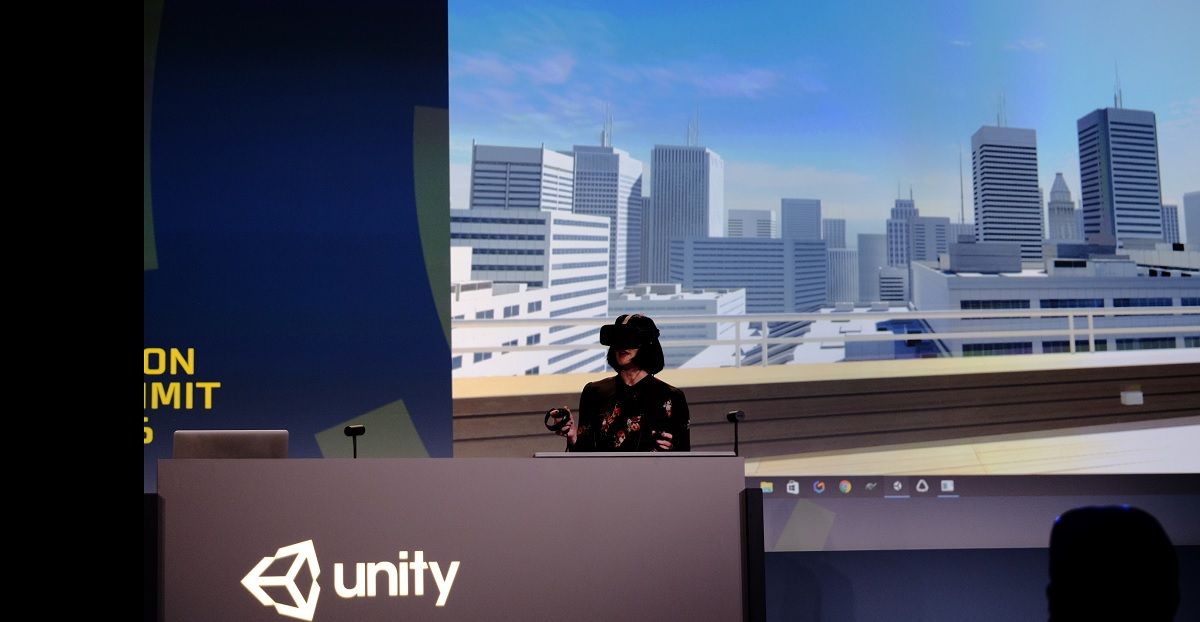 Unity demonstrates new way to develop games inside virtual reality