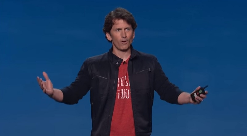 Todd Howard of Bethesda introduces Fallout 4 at E3 2015.