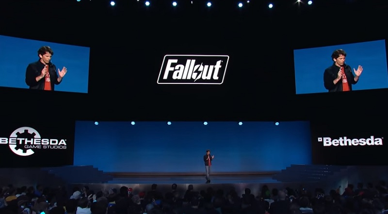 Todd Howard introduces Fallout 4 in the Dolby Theater in 2015.
