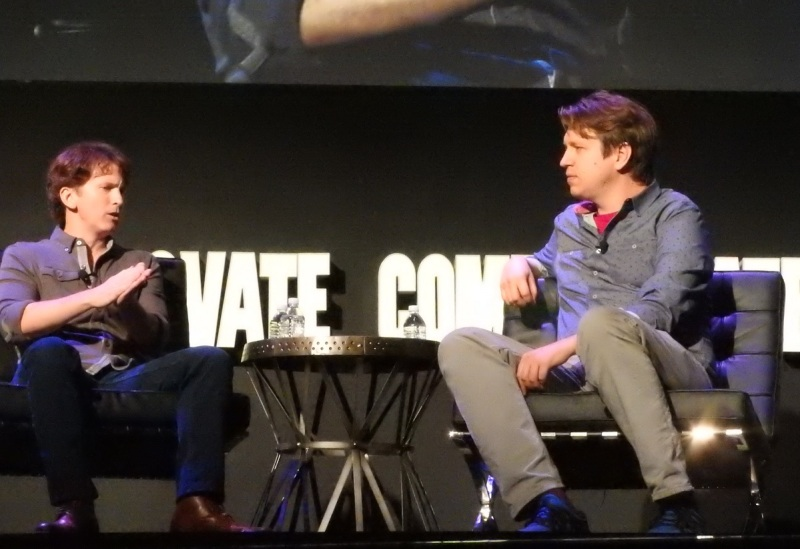 Todd Howard, co-creator of Fallout 4, and Pete Holmes at the DICE Summit 2016.