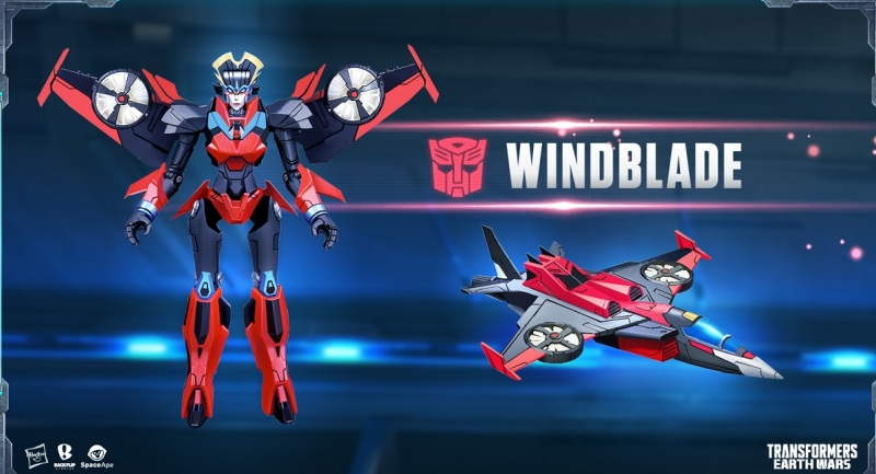 Windblown character in Transformers: Earth Wars.