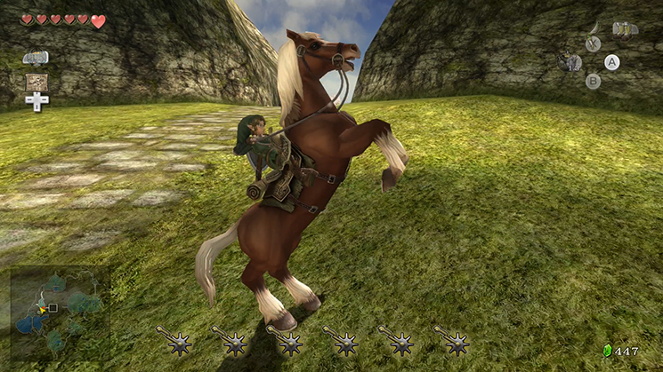 A Link and his horse.
