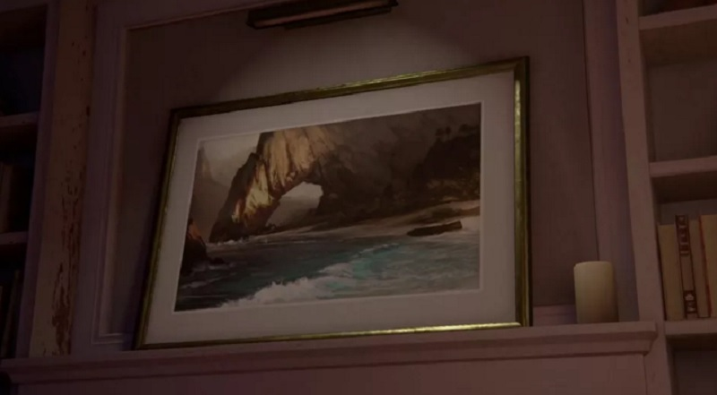 This image from the Uncharted 4 video has Ubisoft's concept art from Assassin's Creed: Black Flag.