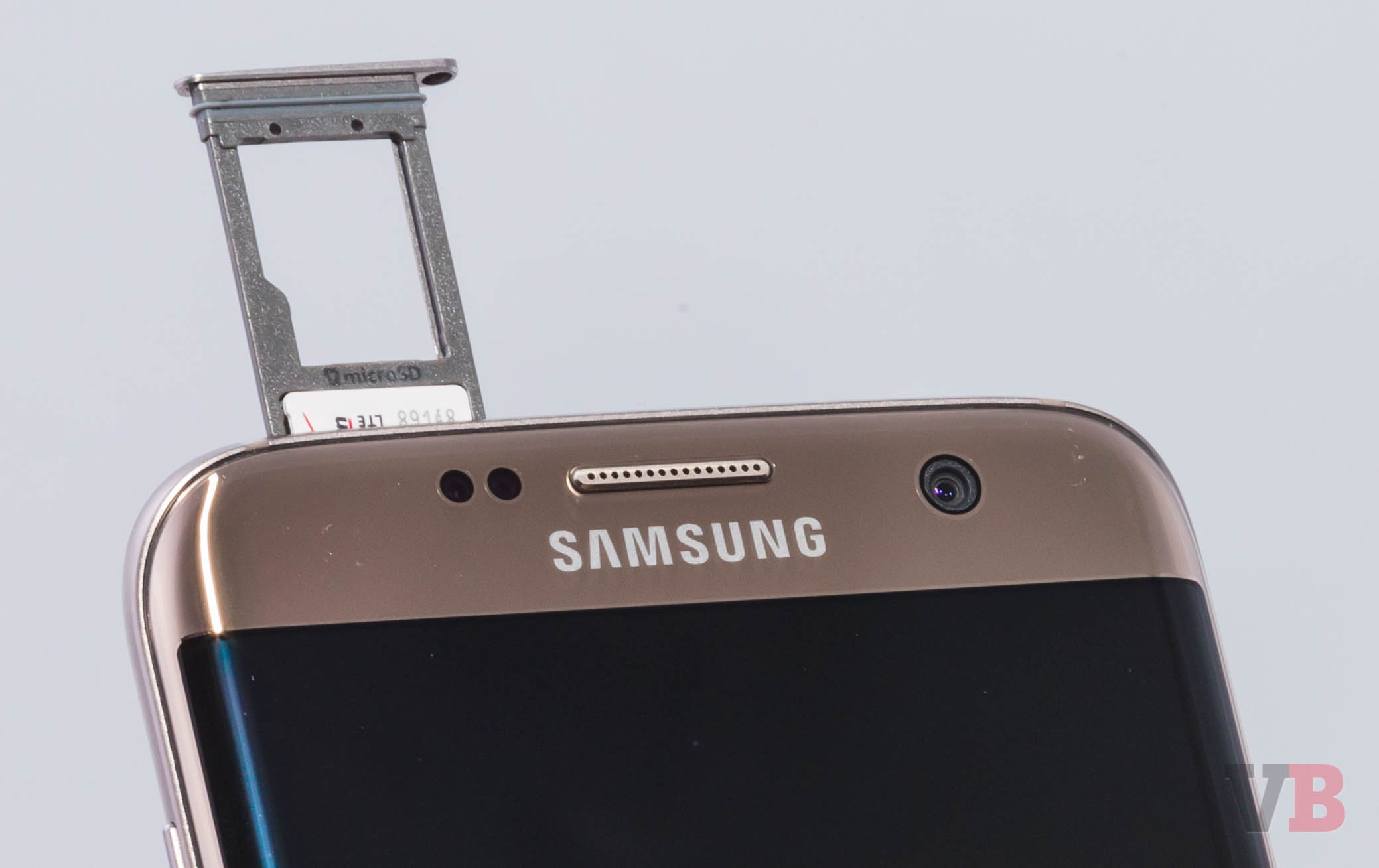 The dual-SIM card slot that's been added to the Samsung Galaxy S7 and S7 edge.