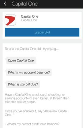 Capital One: Alexa