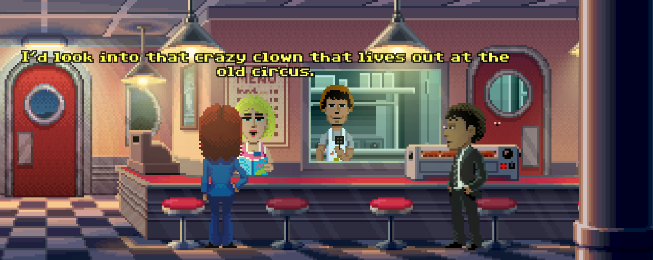 Even the dialogue font reminds of the classic LucasArts games.
