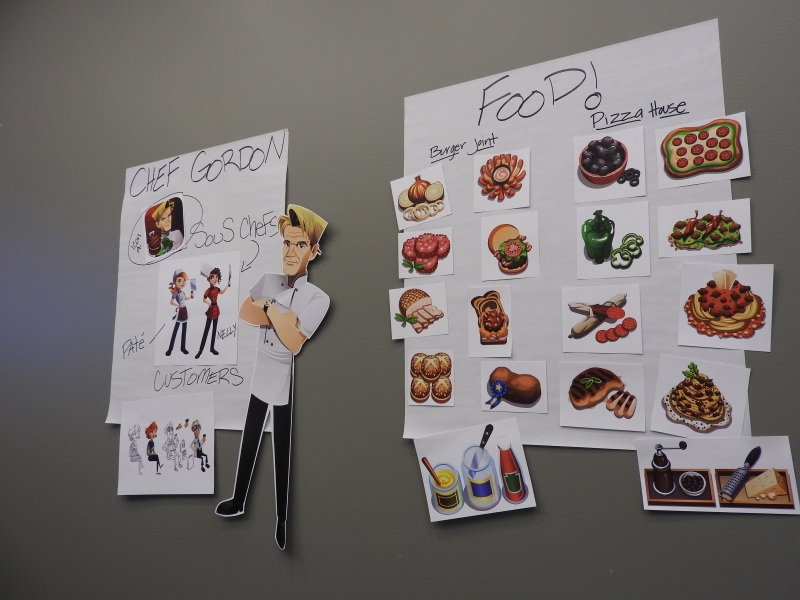 Art work for Gordon Ramsay's mobile game has been personally approved by Ramsay.