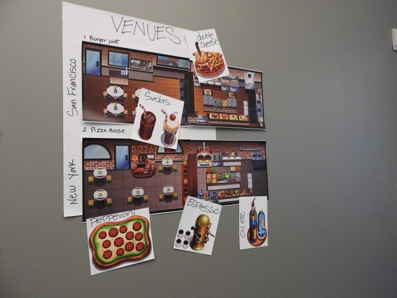 Art for Gordon Ramsay's mobile game.