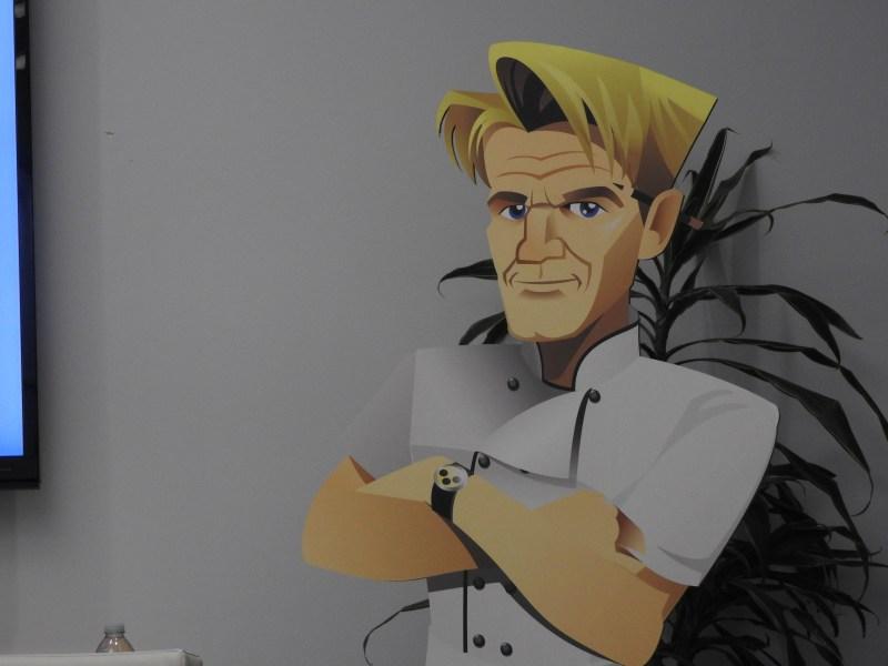 Gordon Ramsay's character in Glu Mobile.