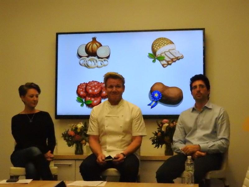 Becky Ann Hughes, Gordon Ramsay, and Niccolo De Masi at Glu Mobile.