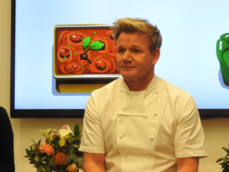 Gordon Ramsay talks about his chef-themed mobile game at Glu Mobile.
