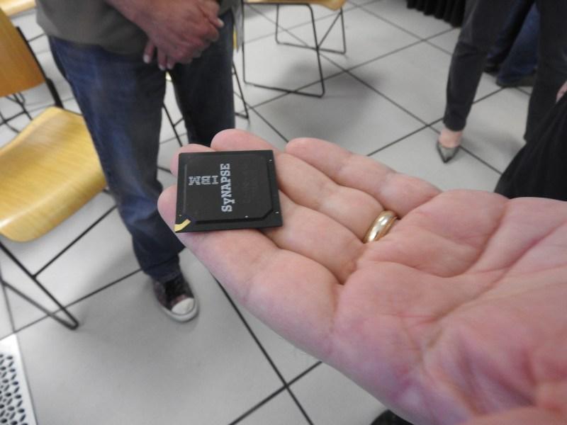 IBM TrueNorth chip has a million neurons.