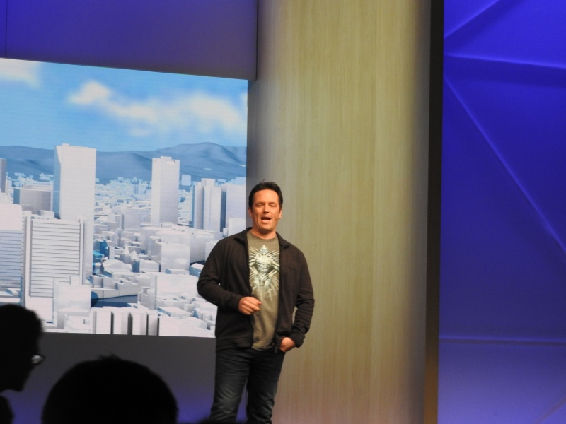 Phil Spencer, head of Xbox, at Build 2016.